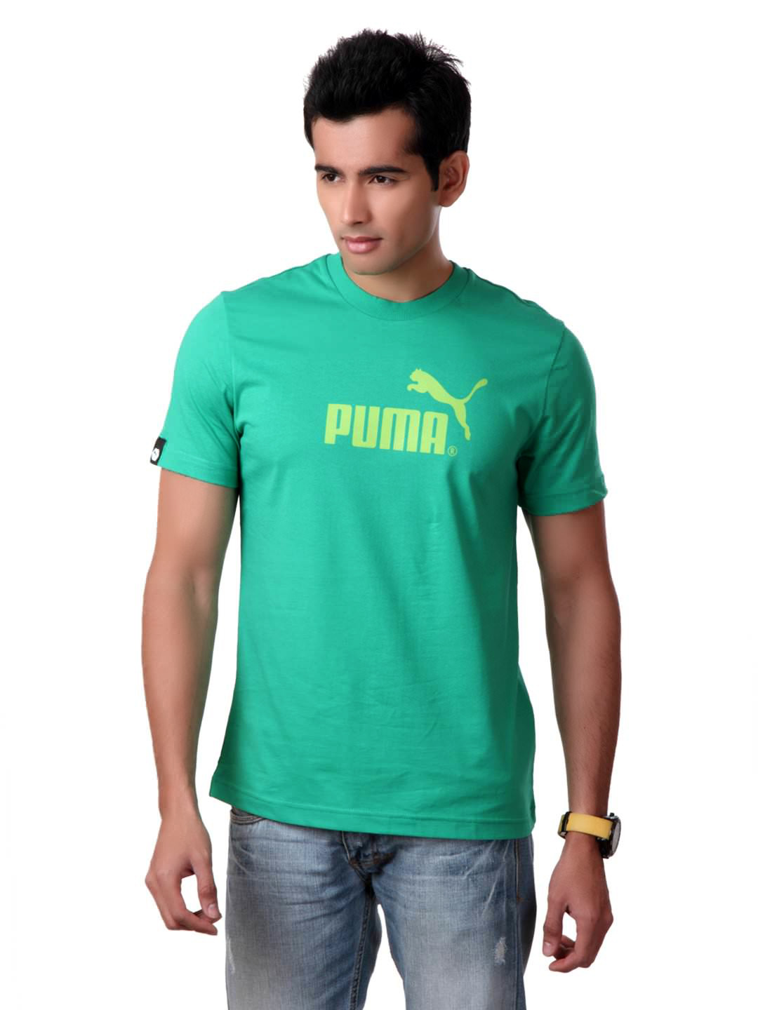 Puma Men Green T-shirt