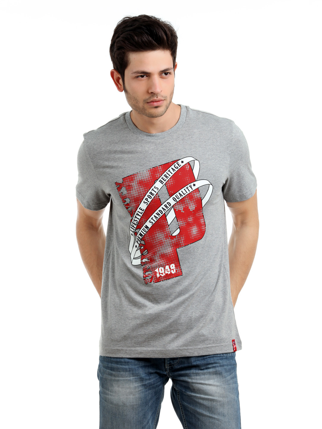 Puma Men Grey T-shirt
