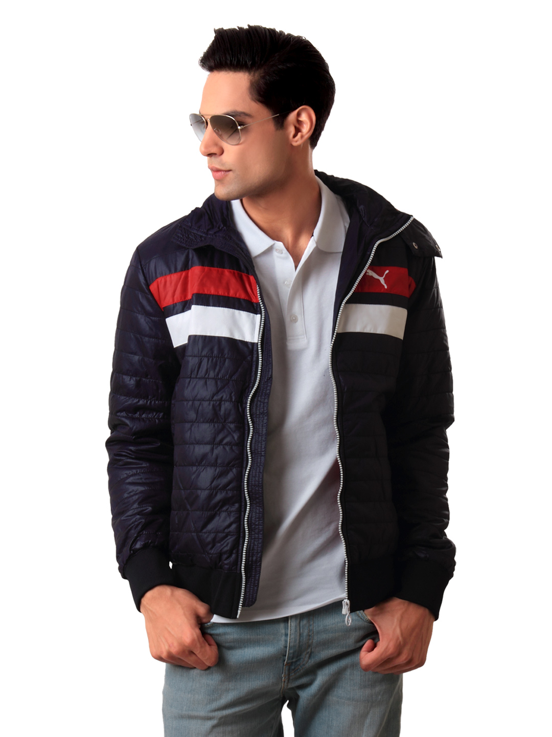 Puma Men Navy Blue Jacket