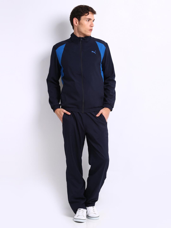 puma tracksuit blue