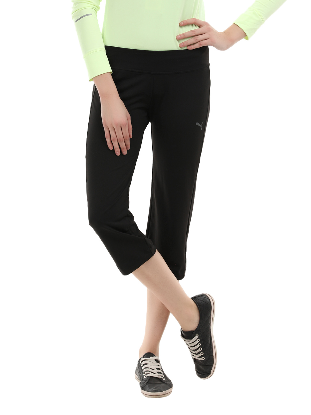Puma Women Black Essential Skinny Capris