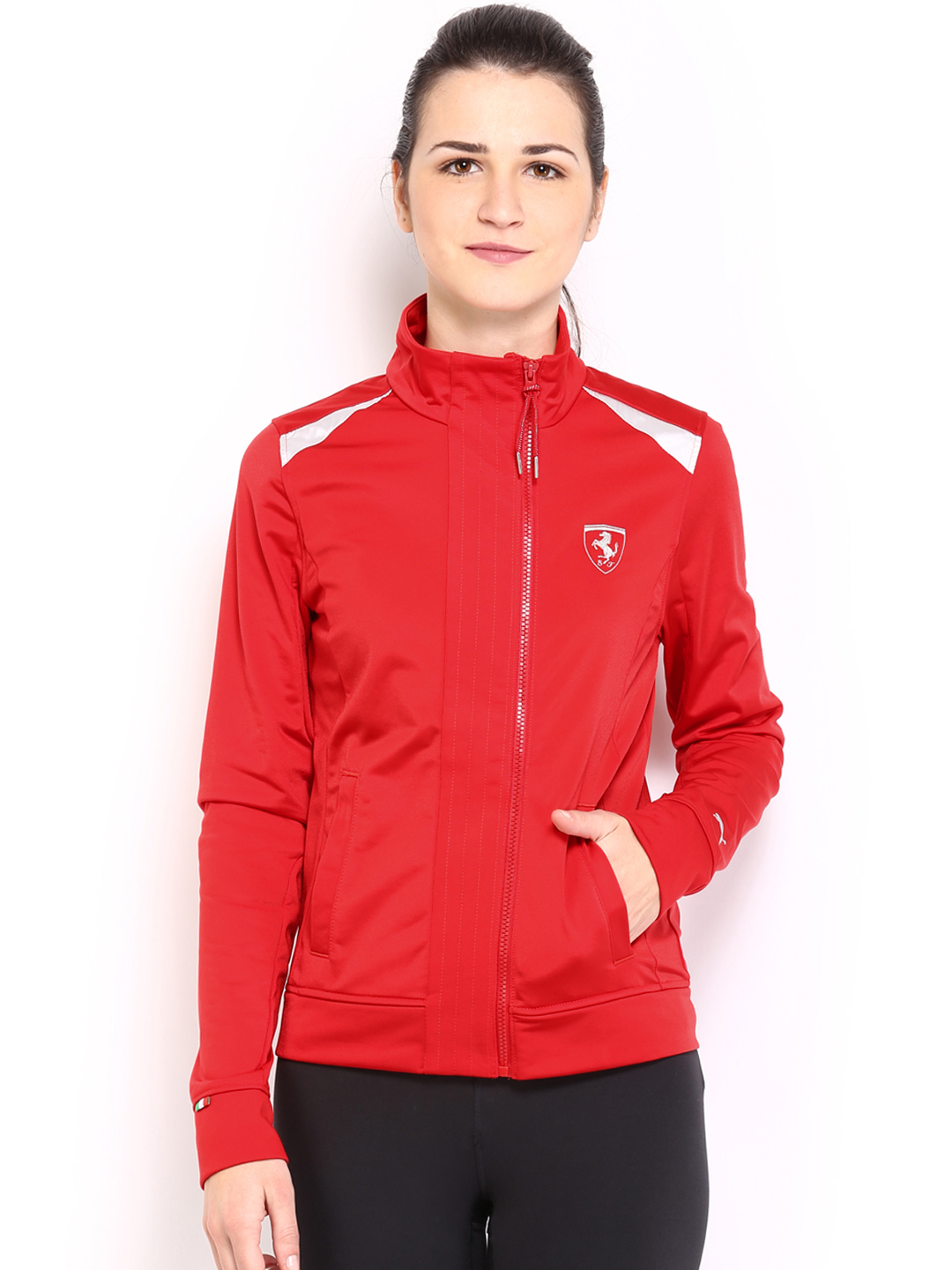 countings track red images ferrari women puma jacket