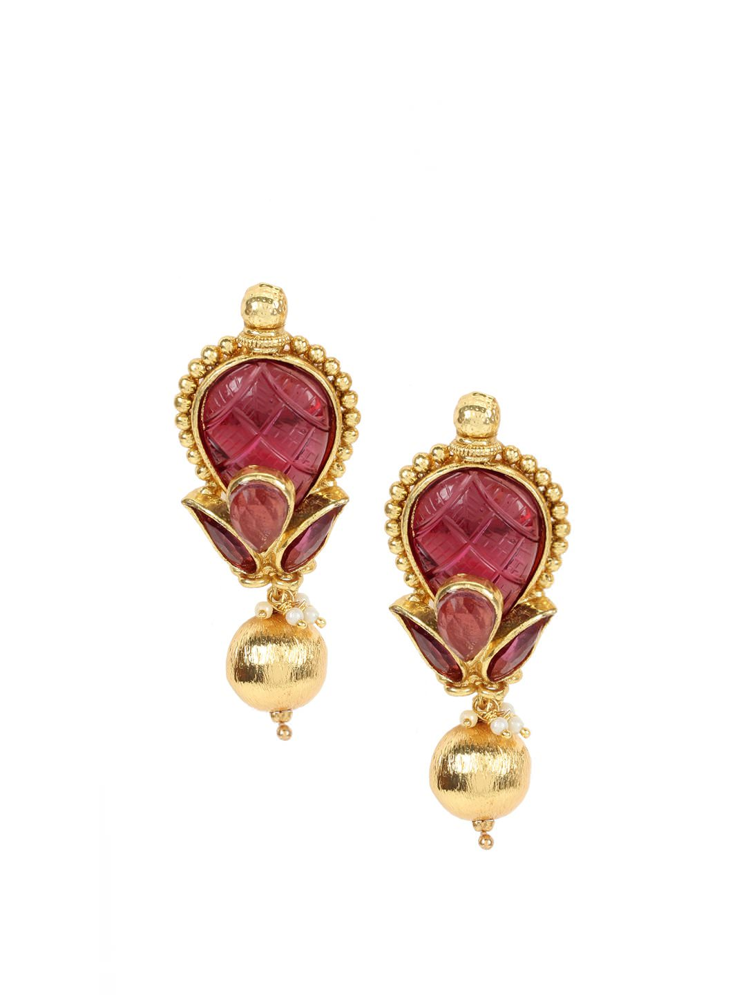 Royal Diadem Pink Earrings