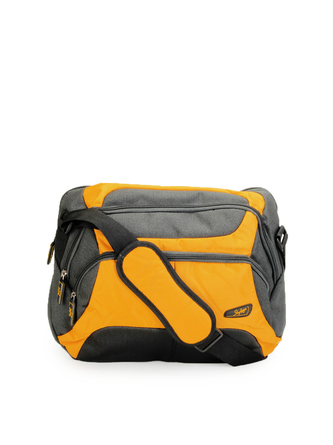 Skybags Unisex Yellow & Charcoal Bag