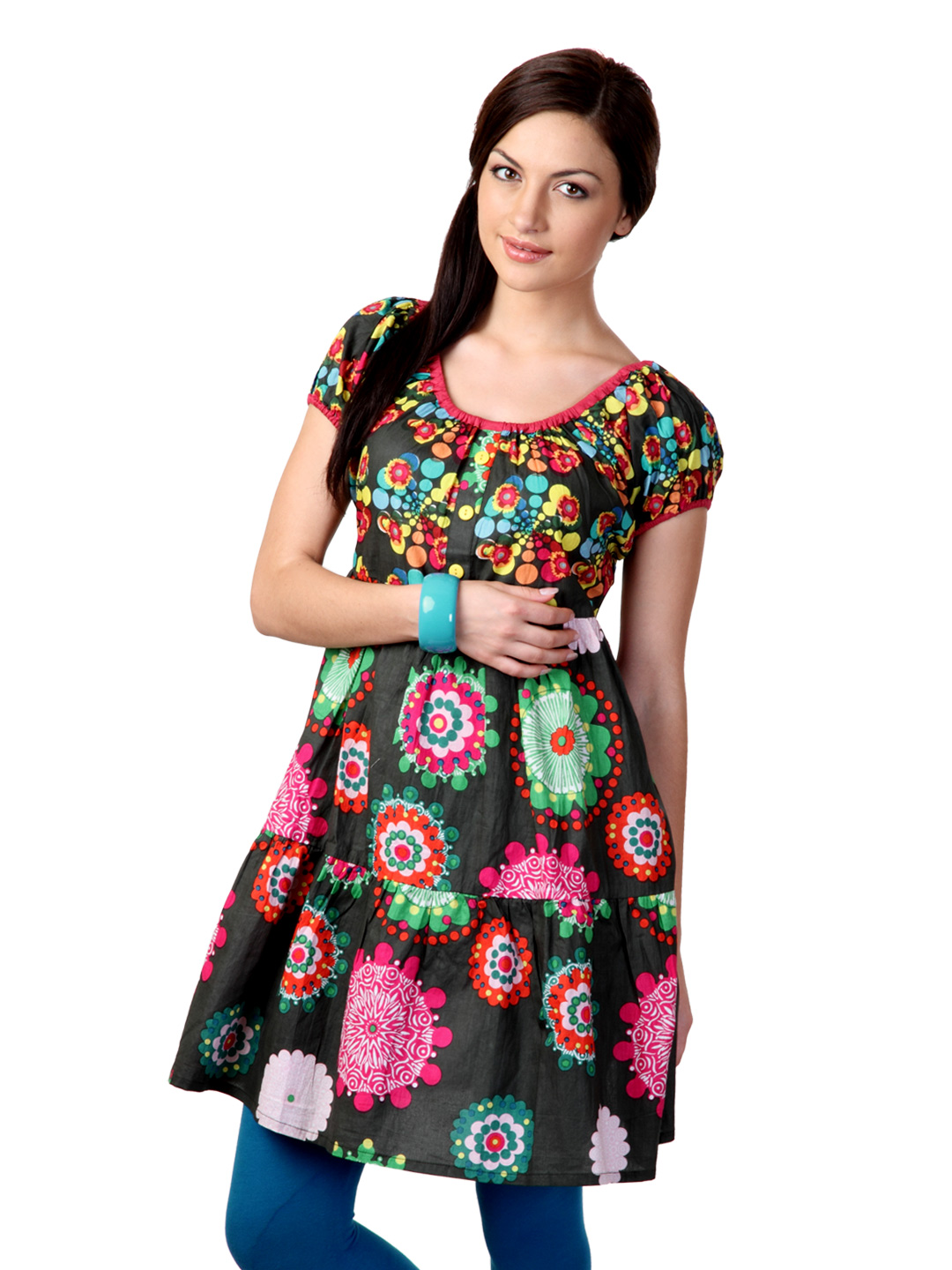 Sritika Women Green Printed Tunic