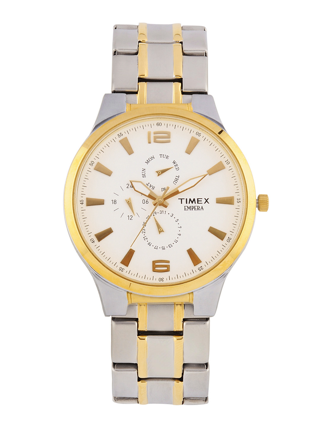 Timex Men White Dial Chronograph Watch