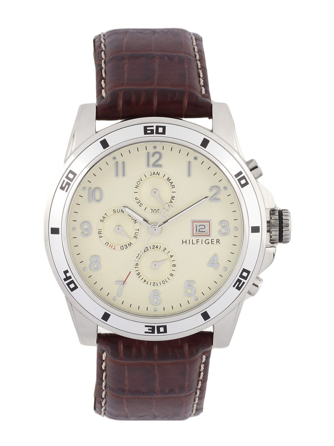 Tommy Hilfiger Men Beige Analog Chronograph Watch