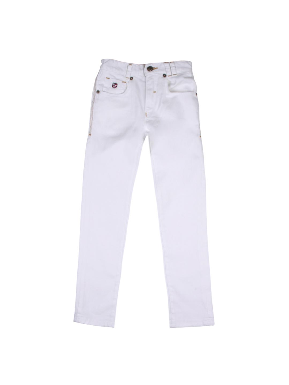 Buy U.S. Polo Assn. Kids Unisex White Jeans - Jeans for Unisex