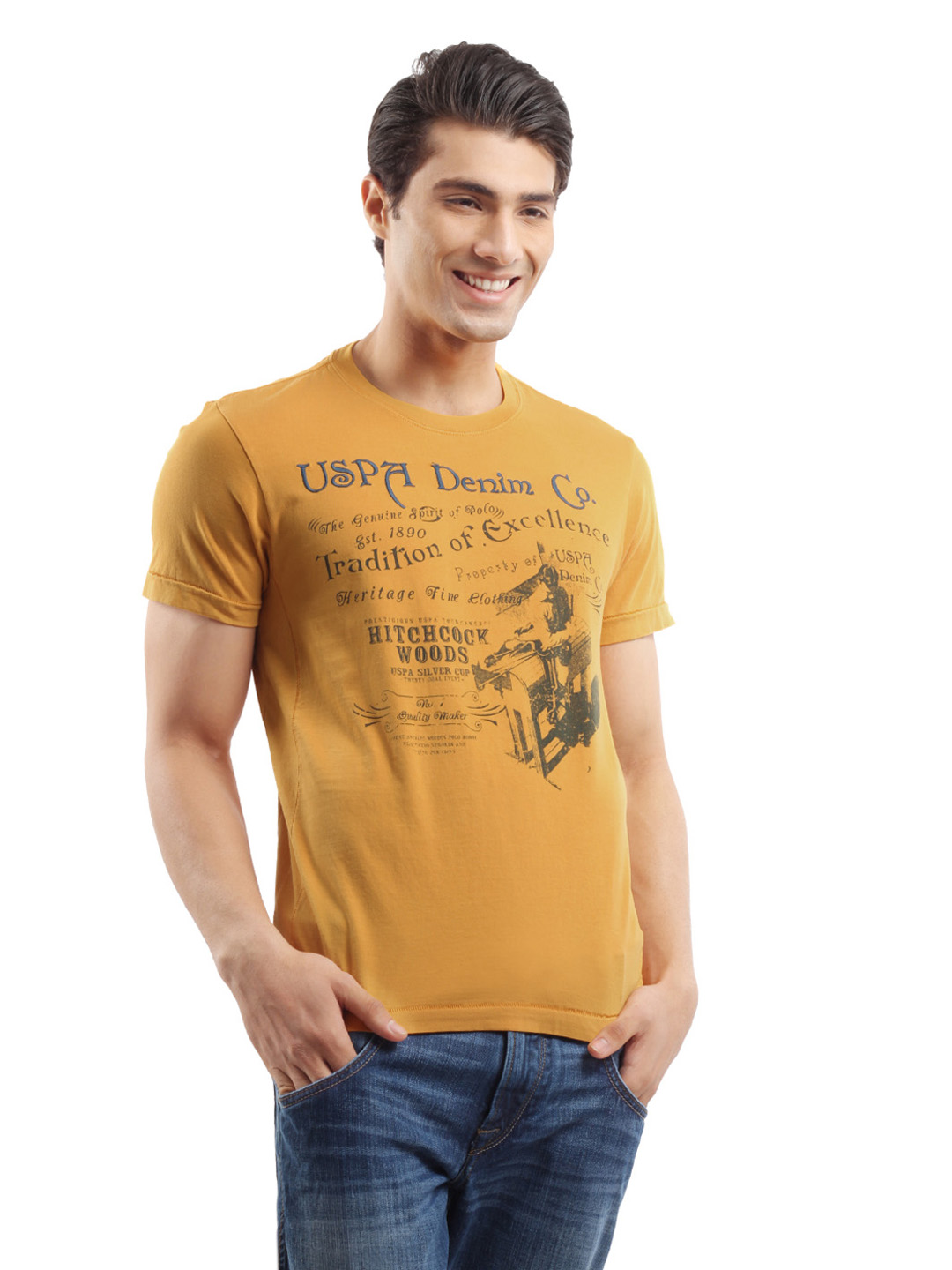 U.S. Polo Assn. Men Yellow T-shirt