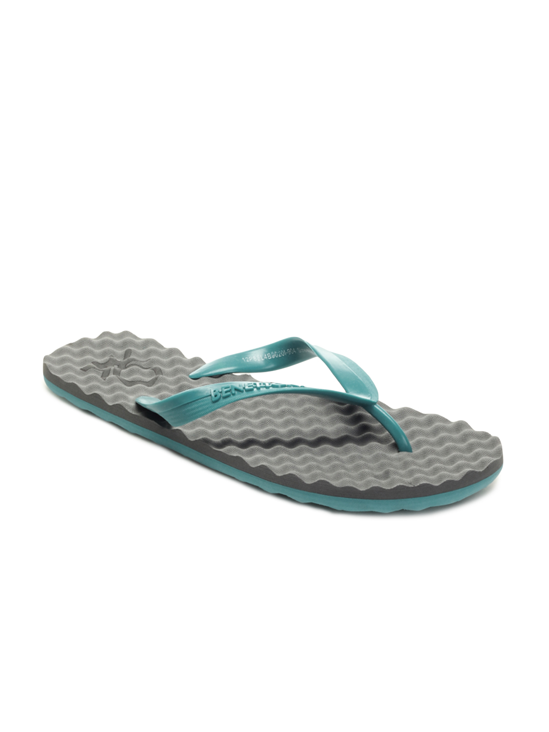 United Colors of Benetton Grey Flip Flops