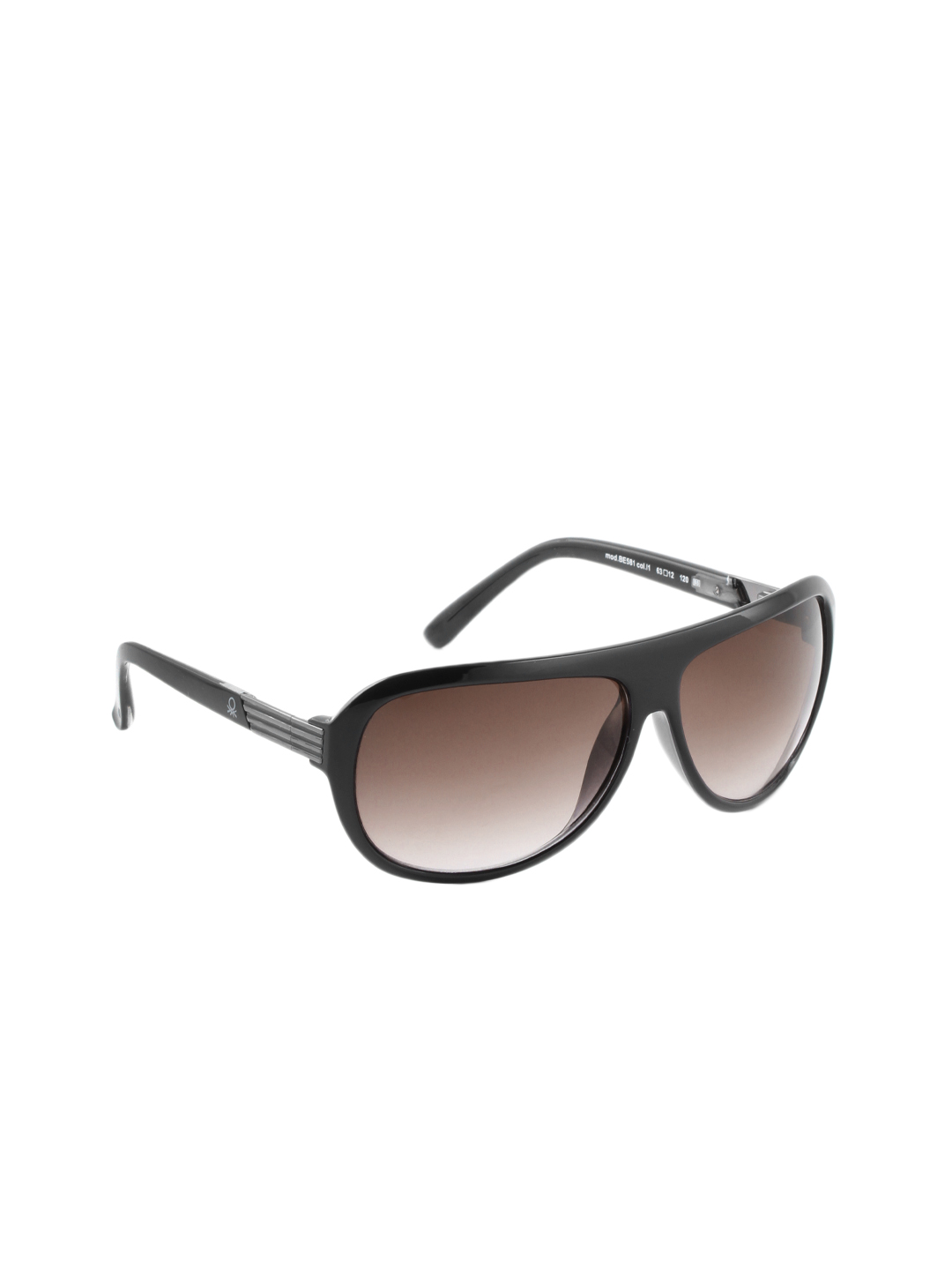 United Colors of Benetton Men Black Sunglasses