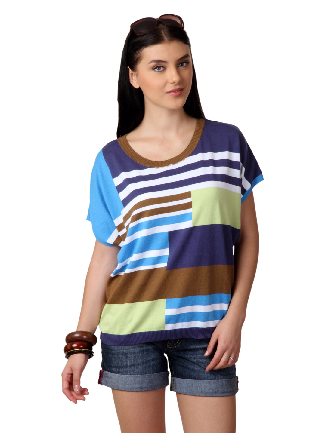 United Colors of Benetton Women Multi Coloured Top