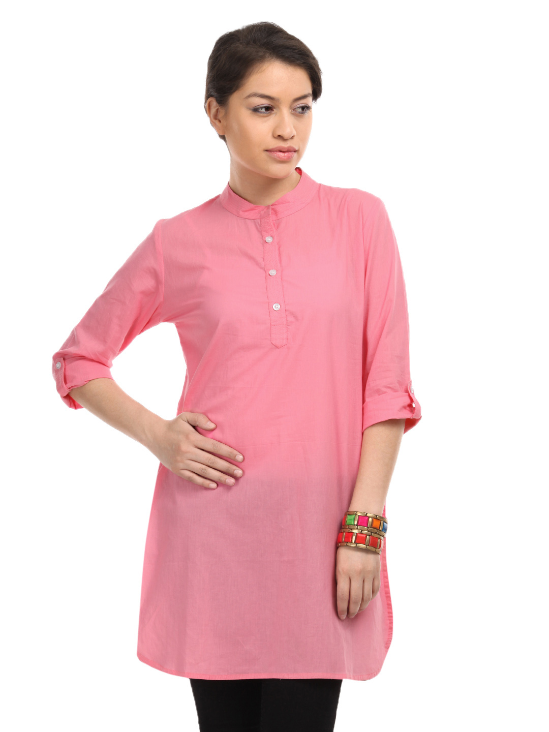 White Lotus Women Pink Kurta
