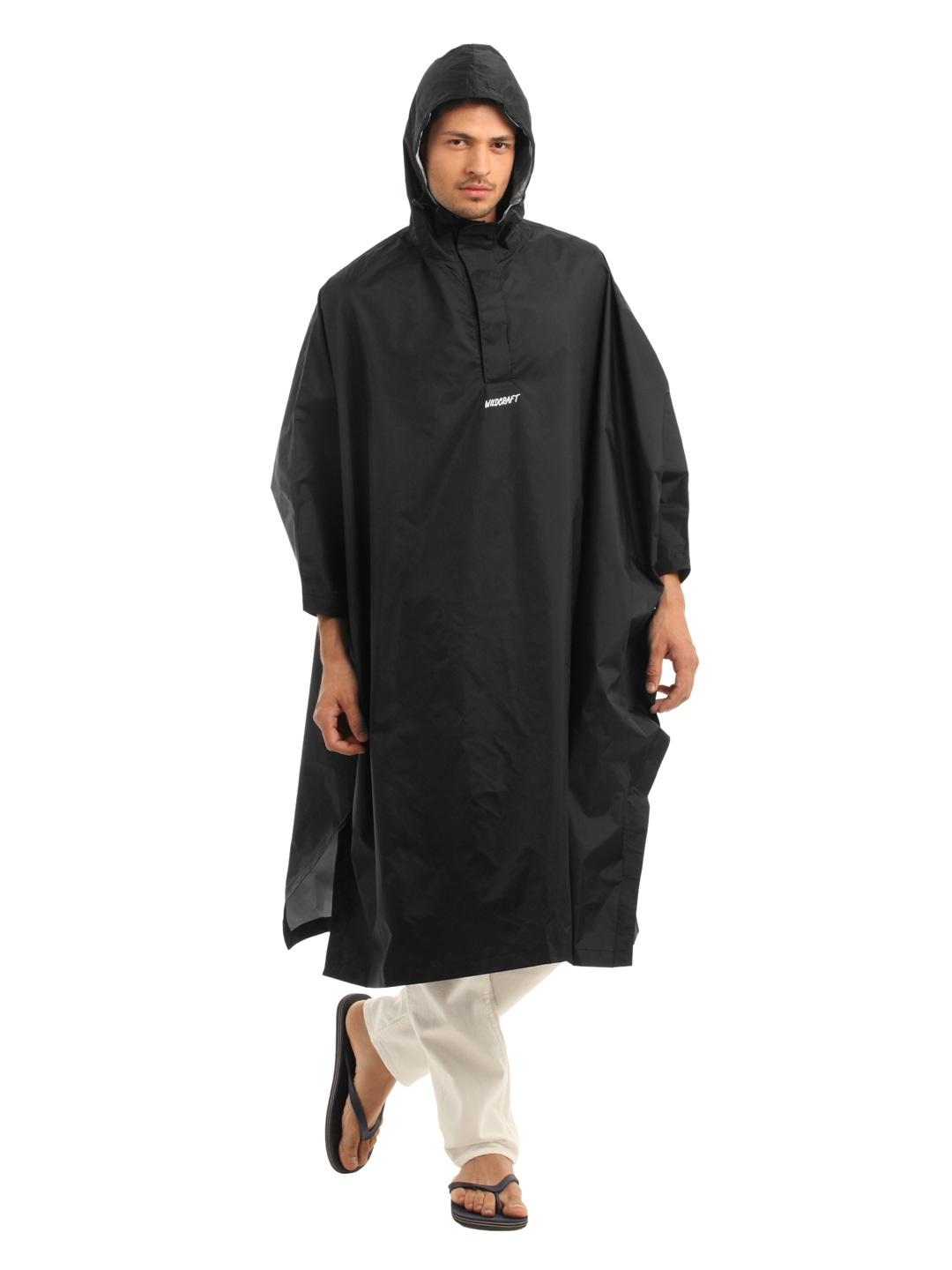 Wildcraft Unisex Black Poncho Rain Jacket