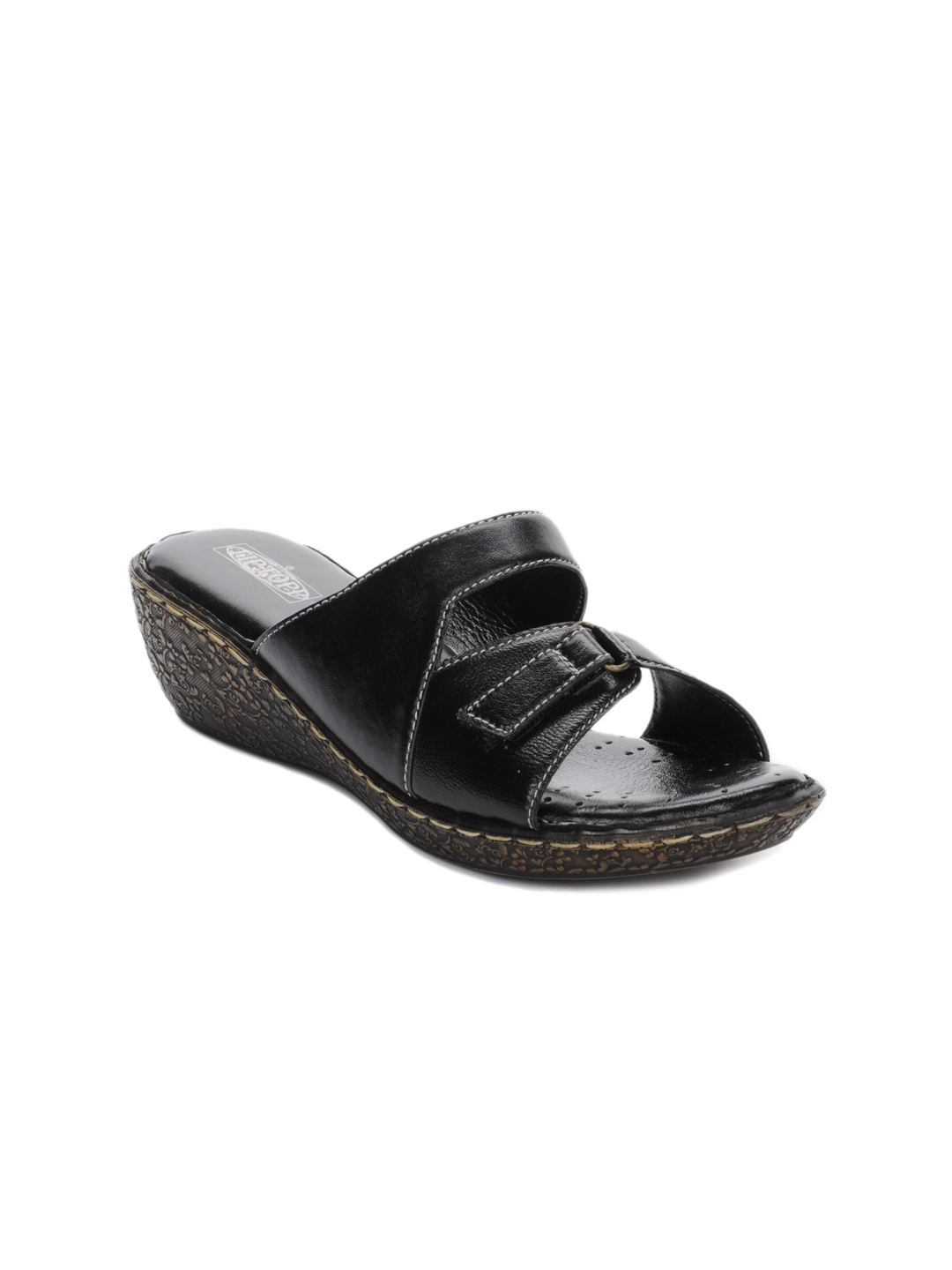 Tiptopp Women Black Sandals