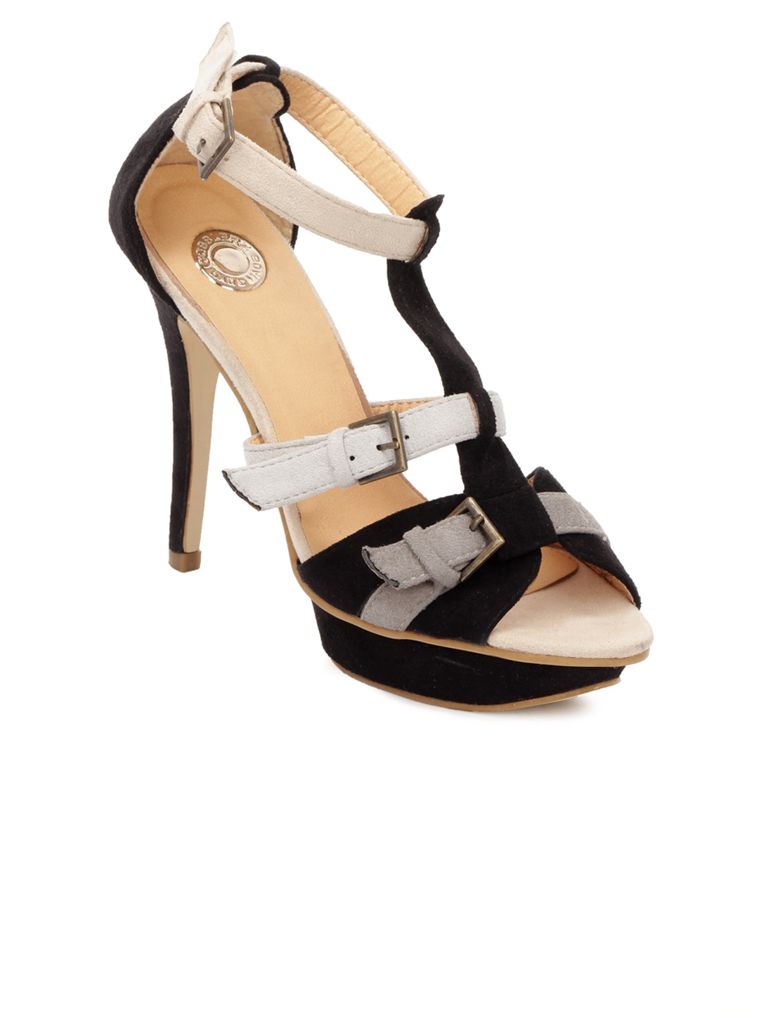 Cobblerz Women Black Sandals