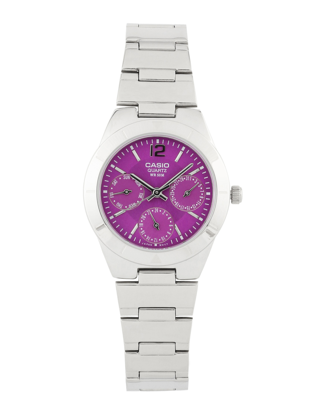 Casio Women Purple Chronograph Watch
