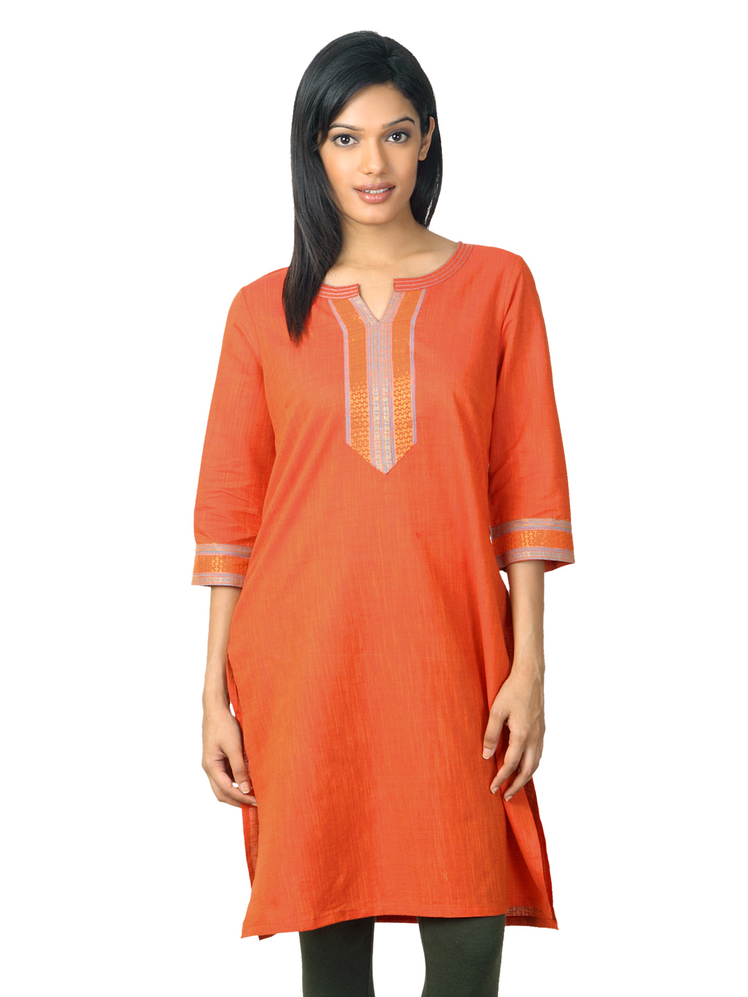 Aurelia  Women Orange Kurta