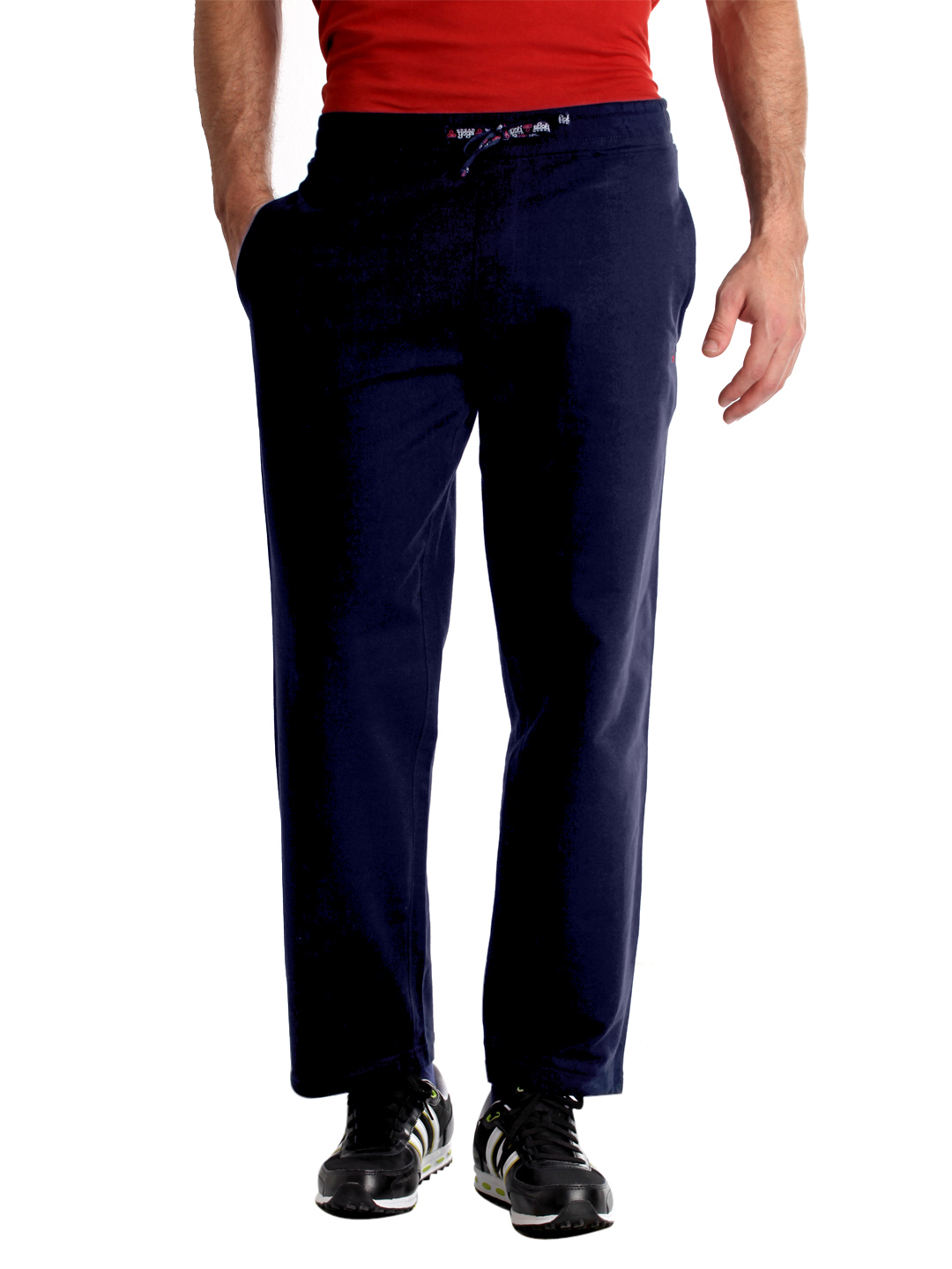 Urban Yoga Men Navy Blue Track Pants