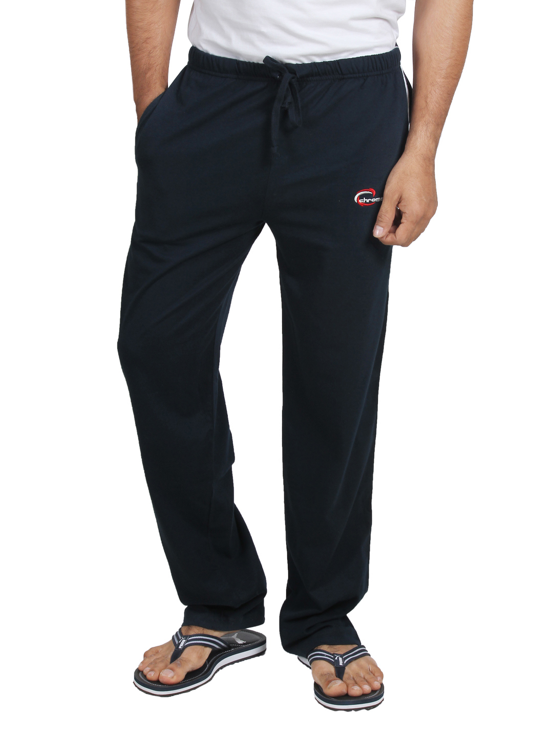 Chromozome Men Navy Blue Sports Track Pants