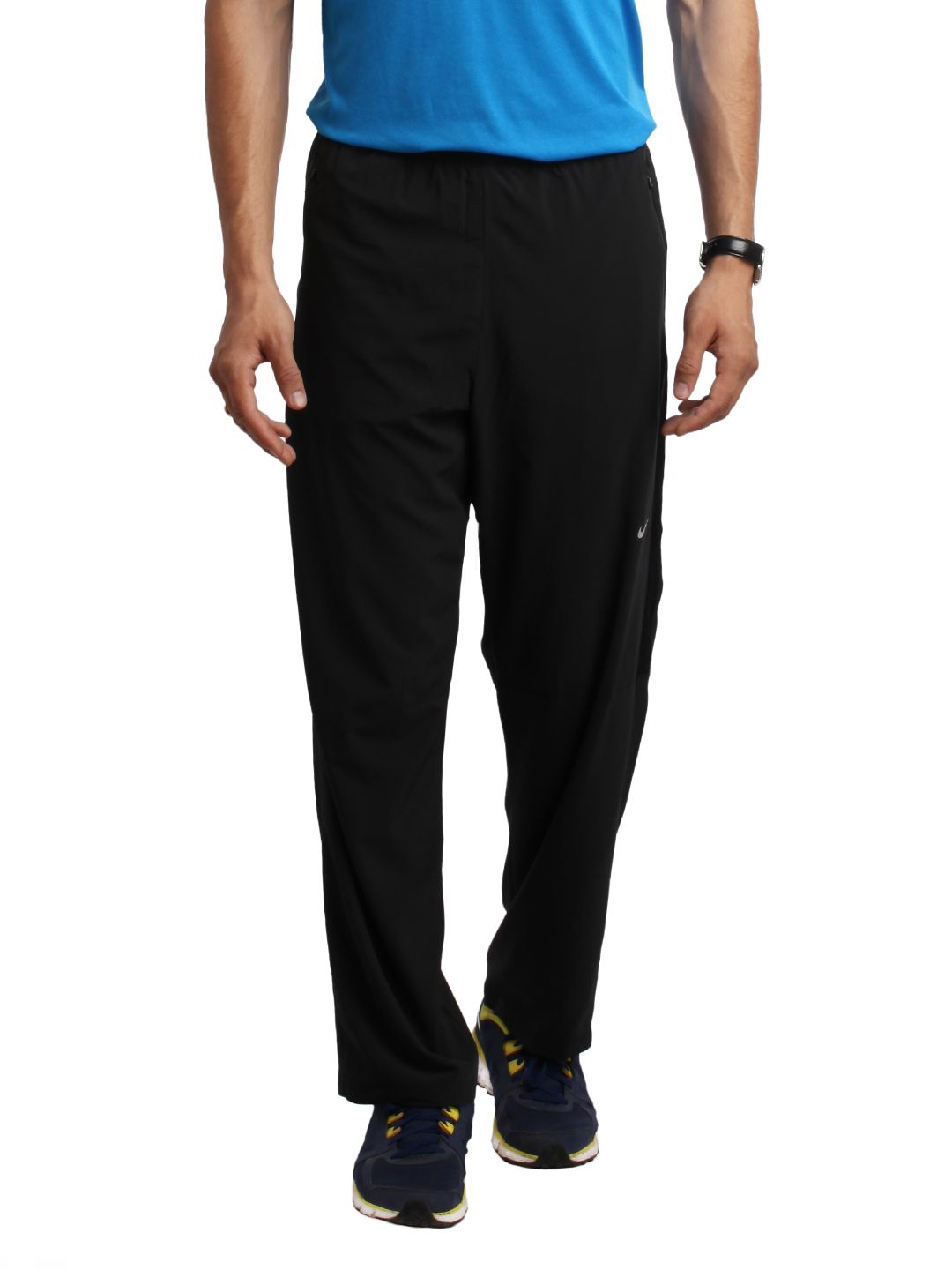 Nike Men Black Running Track Pants