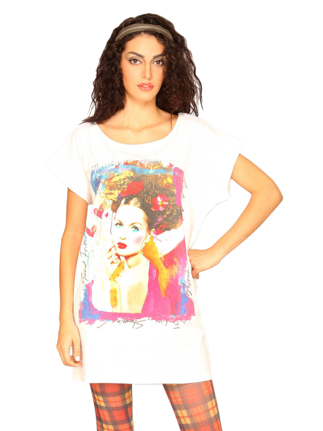UCB Women's Photo Prints White T-shirt