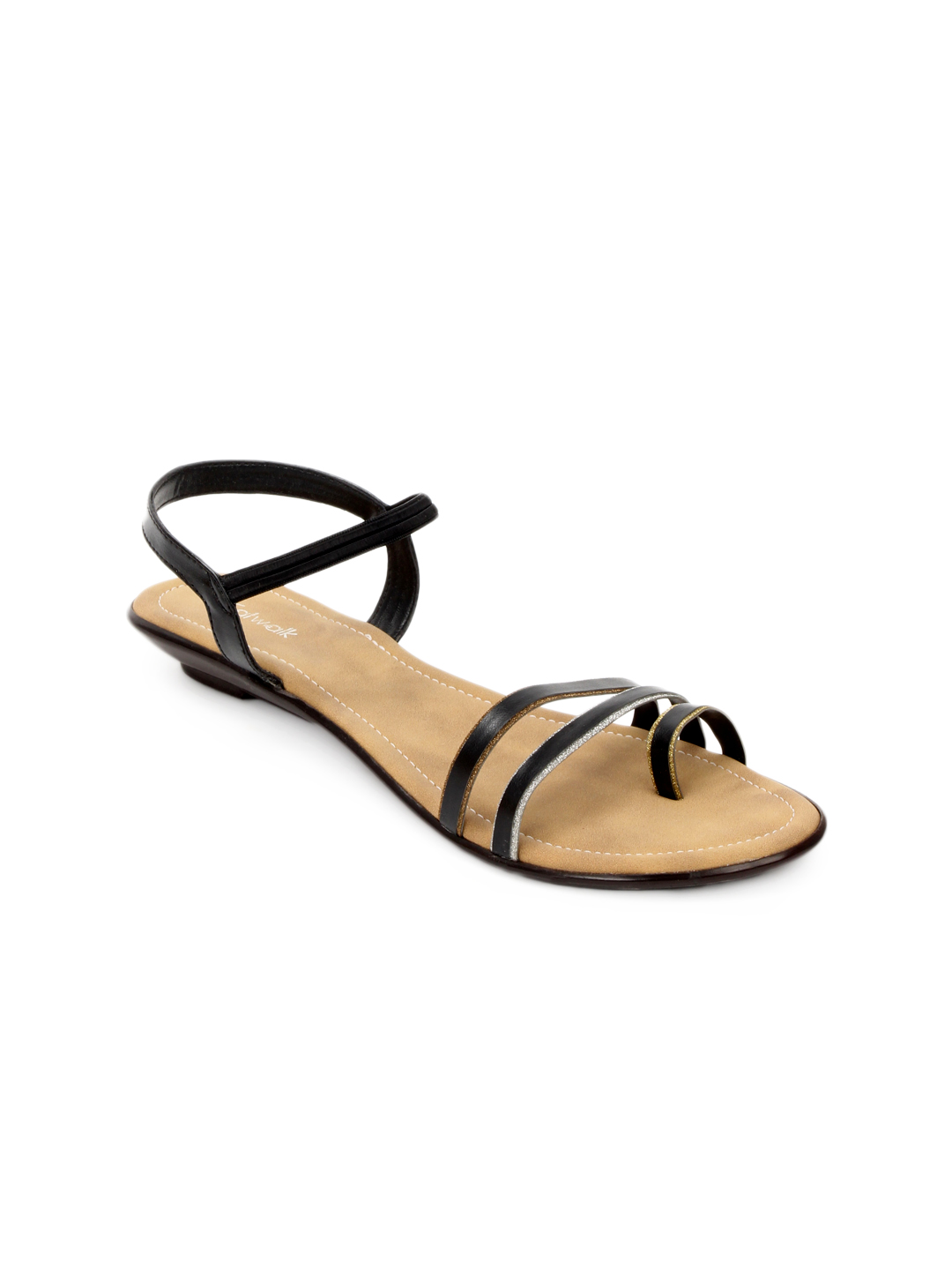 Catwalk Women Black Sandals