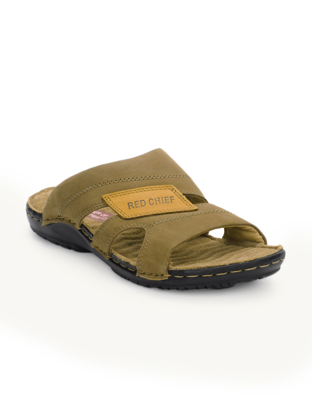 Red Chief Men Khaki Sandals