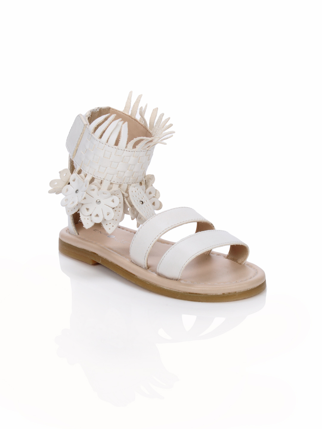 Enroute Teens White Sandals