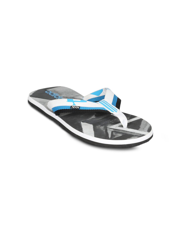 Adidas Men's Lucent Print White Flip Flop