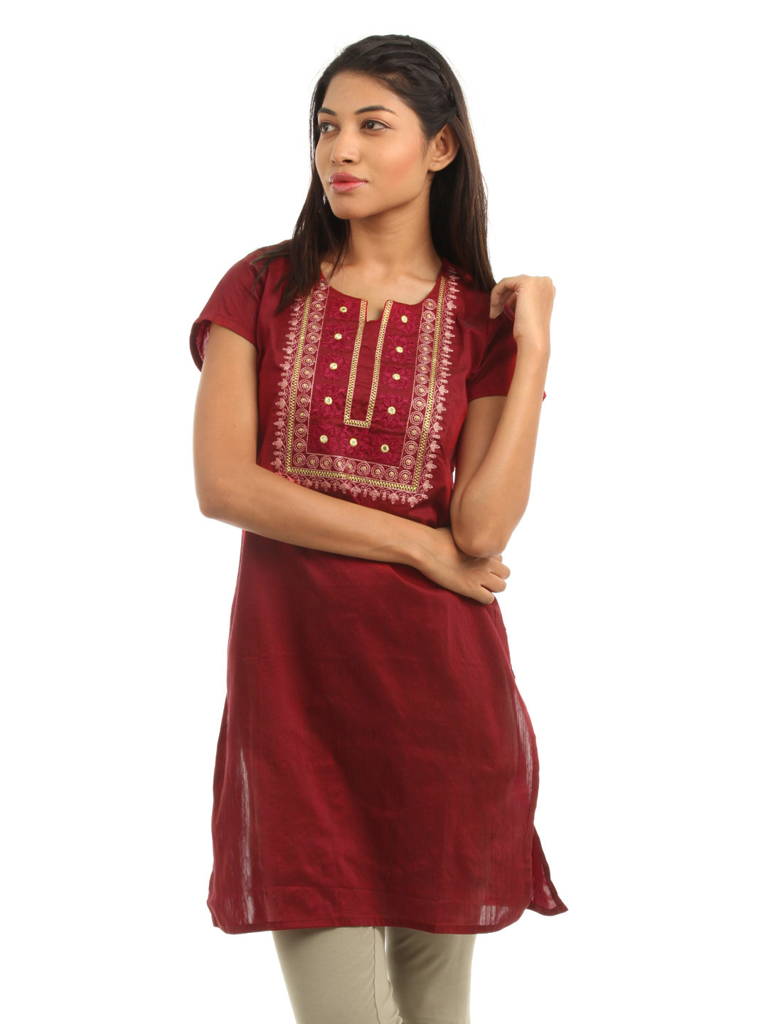 Folklore Women Red Kurta