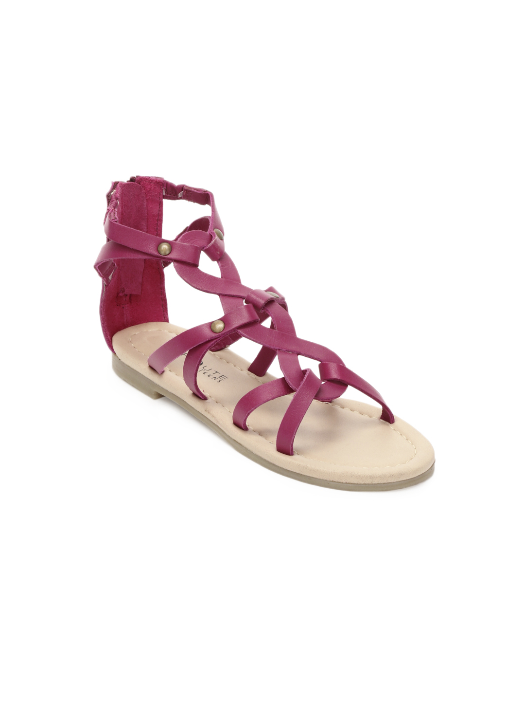 Enroute Kids Girls Pink Sandals
