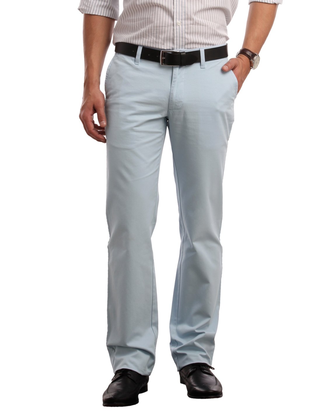 Indian Terrain Men Blue Trousers