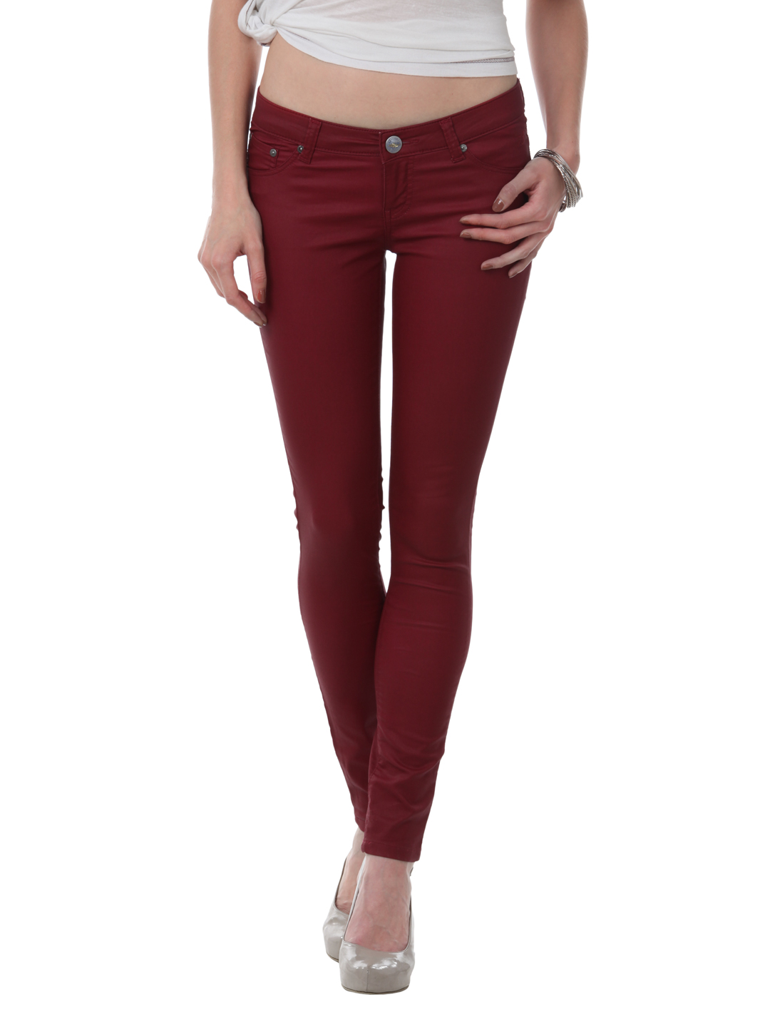Dark Red Jeans Womens - Jeans Am