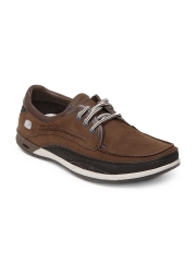Clarks Men Brown Orson Lace Leather Casual Shoes