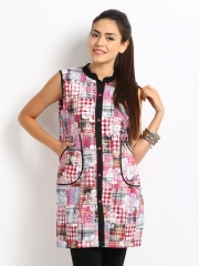 Women Multi-Coloured Checked Kurta